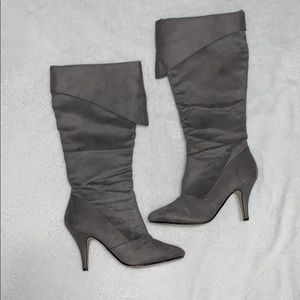 Gray Charlotte Russe Calf Heel Boots Size 7